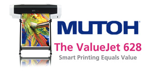 Check Out the NEW Mutoh VJ628 24″ Printer!