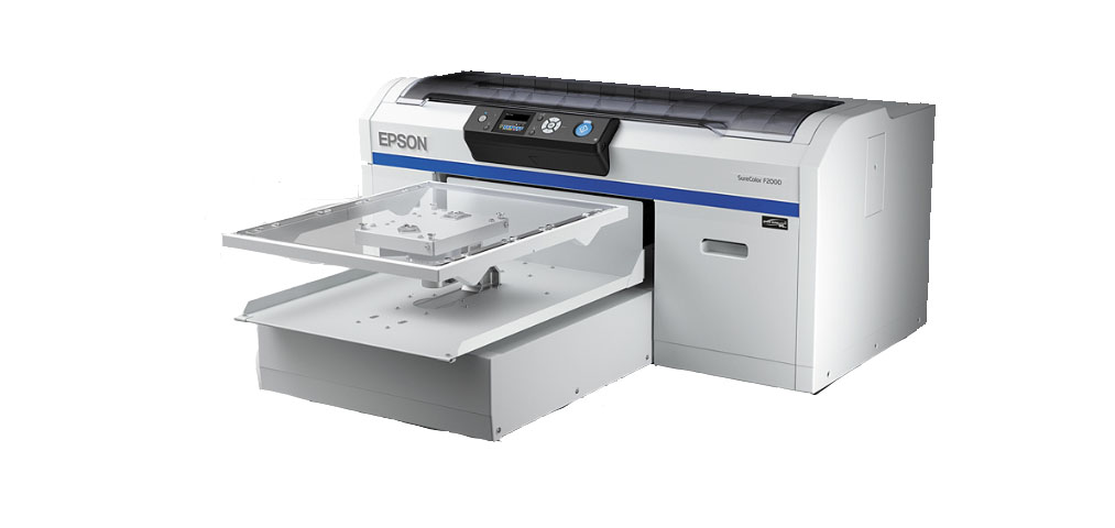 Introducing the all new Epson F2000 Direct to Garment Printer