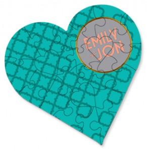 Hardboard Sublimation Heart Jigsaw Puzzle