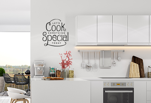 Removable Wall Vinyl Kitchen Decal - Coastal Business Supplies
