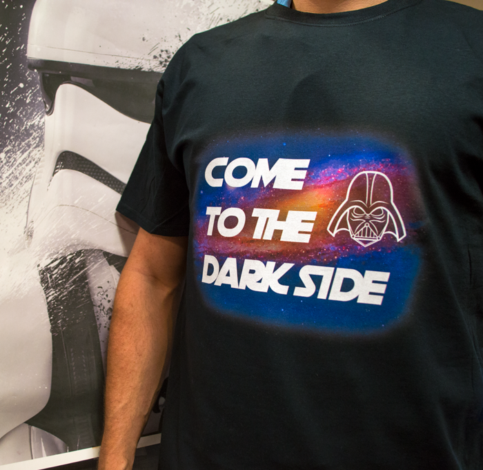 dtg darth vader star wars printing dark shirts coastal business supplies