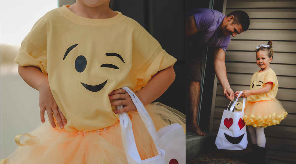 DIY Emoji Costume with heat transfer vinyl from Coastal Business Supplies